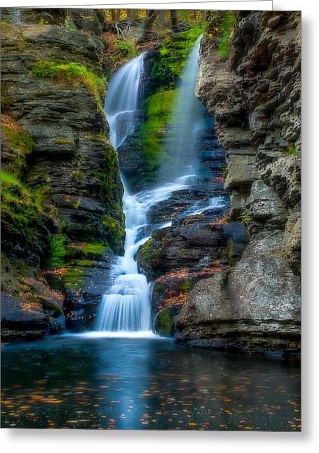 Dingmans Ferry Falls 1 Greeting Card by Ken Beatty