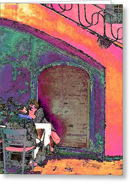 Dining Al Fresco Greeting Card by Karol Blumenthal