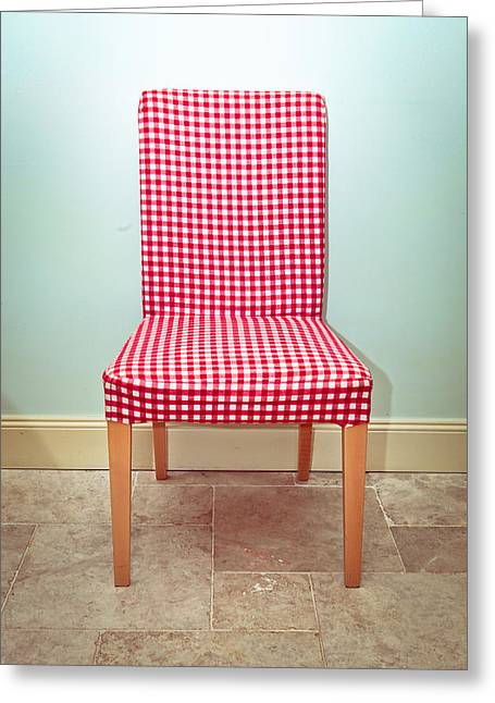 Dining Chair Greeting Card by Tom Gowanlock