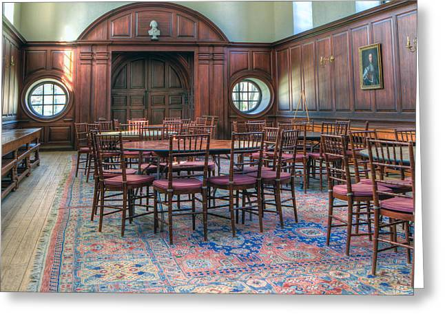 Greeting Card featuring the photograph Dining Hall Wren Building by Jerry Gammon