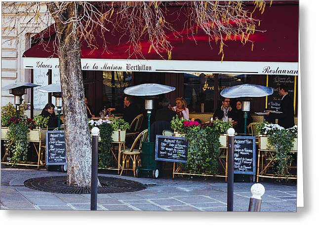 Dining In Paris Greeting Card by Pati Photography