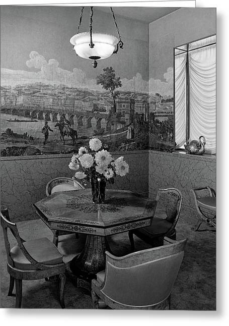 Dining Room In Helena Rubinstein's Home Greeting Card