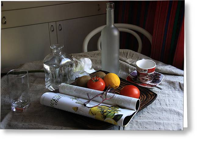 Dining Room Still Life With A Cup Of Coffee. Greeting Card