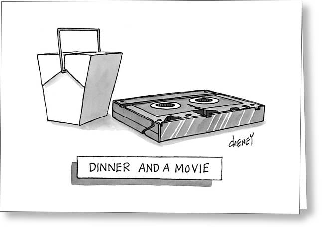 Dinner And A Movie Greeting Card