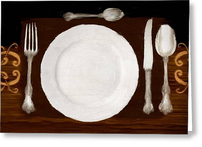 Dinner For One Greeting Card