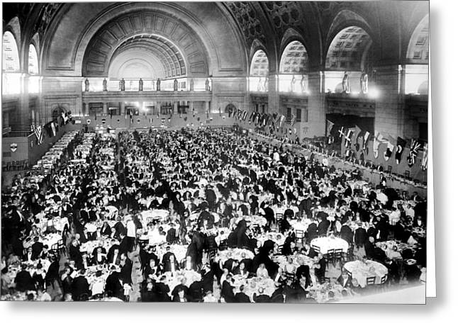 Dinner For Two Thousand At Union Station In Washington Greeting Card