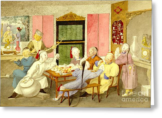Dinner Party 1860 Greeting Card by Padre Art