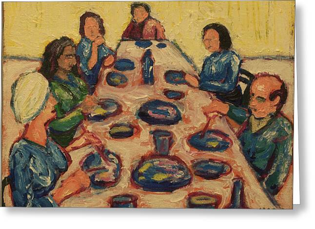 Dinner Party Greeting Card by Clarence Major