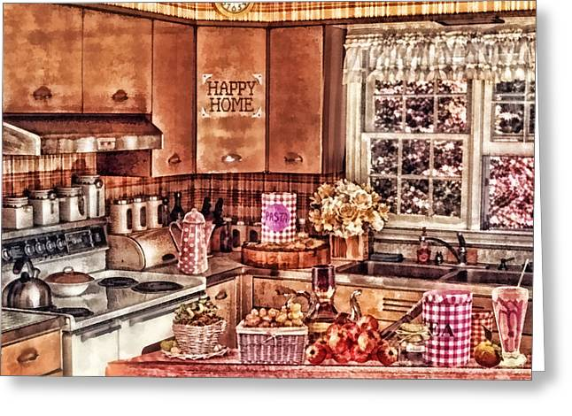 Dinner Time Greeting Card by Mo T