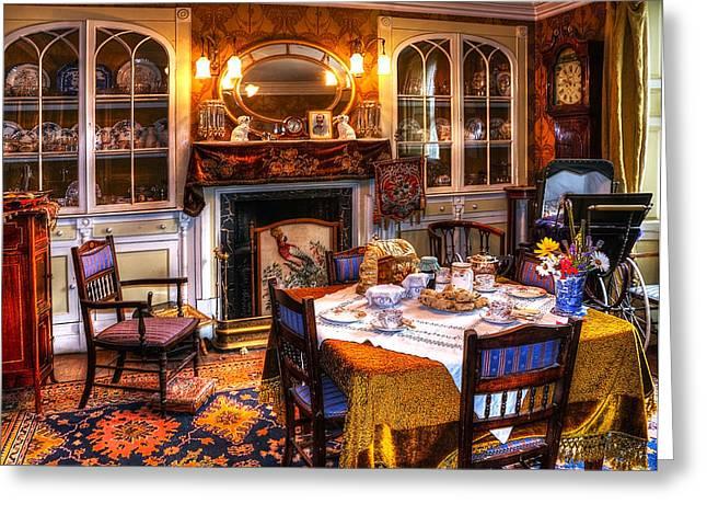 Dinning Room Greeting Card by Svetlana Sewell