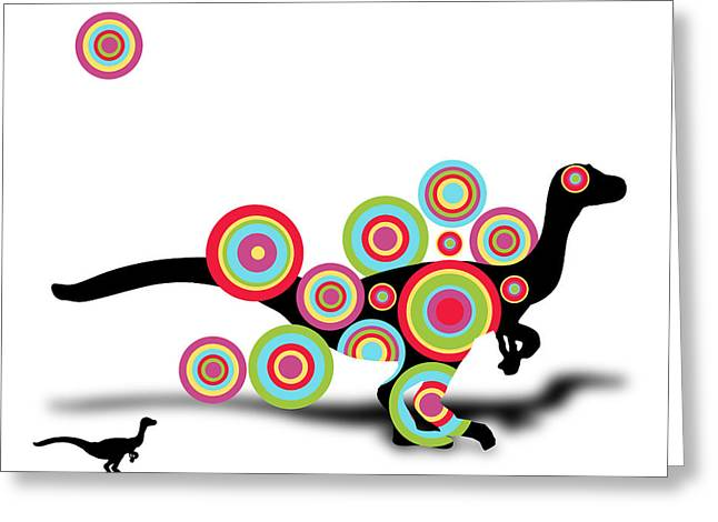 Dinosaur 2 Greeting Card by Mark Ashkenazi