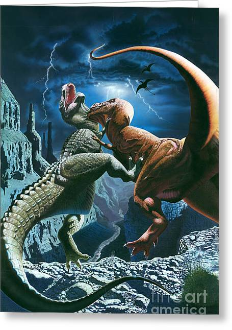 Dinosaur Canyon Greeting Card