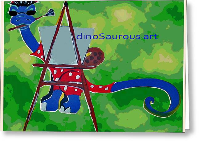 dinoSaurous art logo Greeting Card by Jazzboy