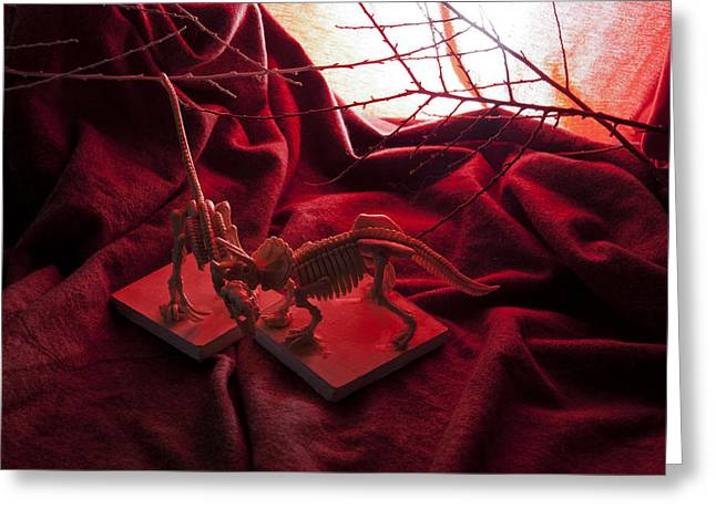 Dinosaurs In Fire Greeting Card
