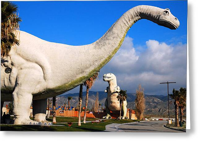 Greeting Card featuring the photograph Dinosaurs Of Cabazon by James Kirkikis