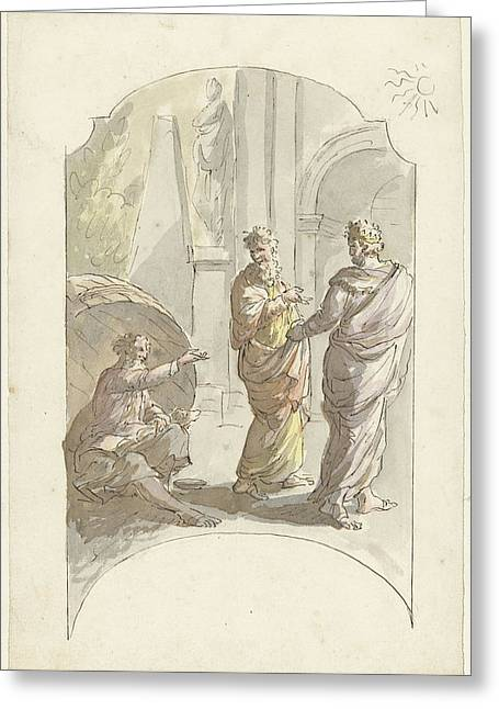 Diogenes Asked Alexander Not To Stand In His Light Greeting Card by Quint Lox