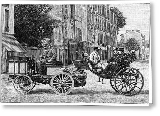 Dion Steam Carriage Greeting Card