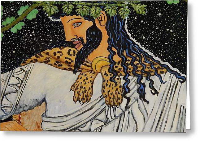 Dionysus  Greeting Card by Caroline Street