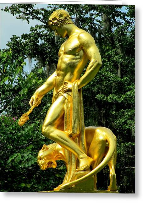 Dionysus Right Greeting Card
