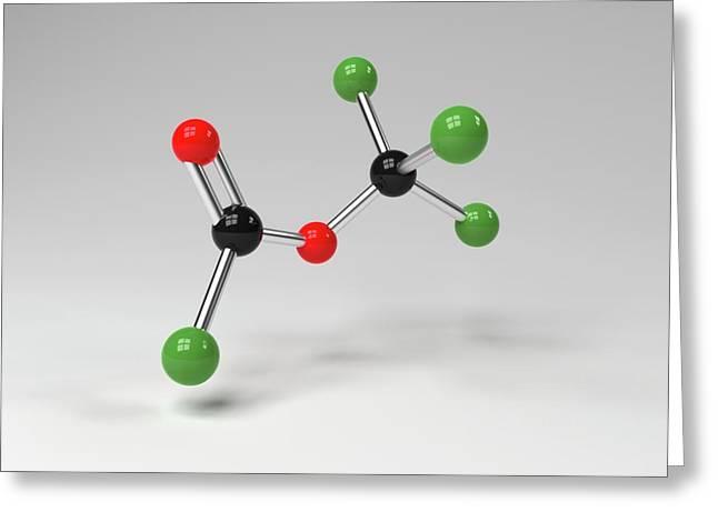 Diphosgene Molecule Greeting Card by Indigo Molecular Images