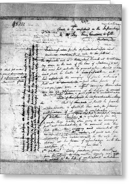 Diplomacy, 1794 Greeting Card