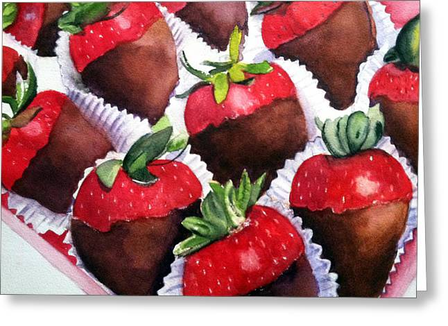 Dipped Strawberries Greeting Card