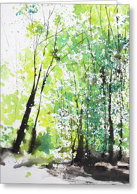 Diptych No.29 Left 16x20 Greeting Card by Sumiyo Toribe