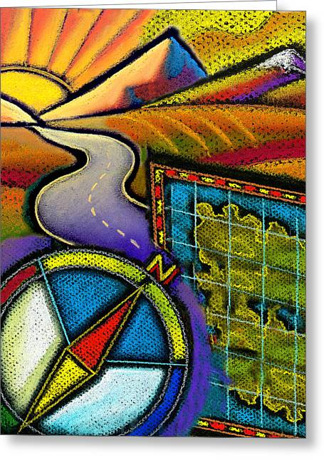 Directions Greeting Card by Leon Zernitsky