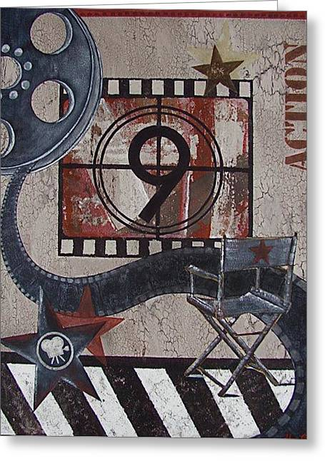 Director Chair Greeting Card by Sheena Pape