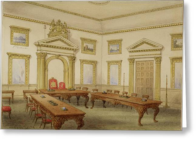 Director's Court Room At East India House Greeting Card by British Library