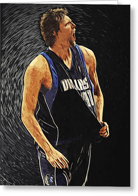 Dirk Nowitzki Greeting Card by Taylan Apukovska