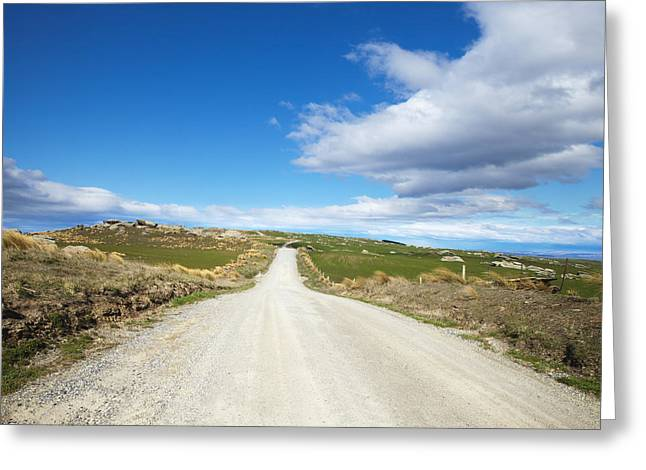 Dirt Road Otago New Zealand Greeting Card