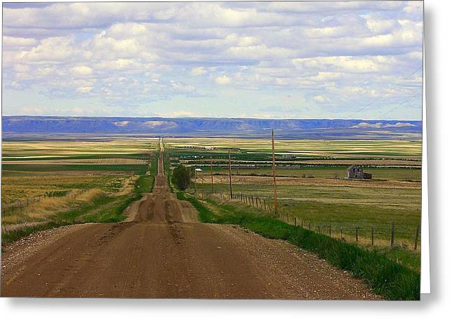 Dirt Road To Forever Greeting Card