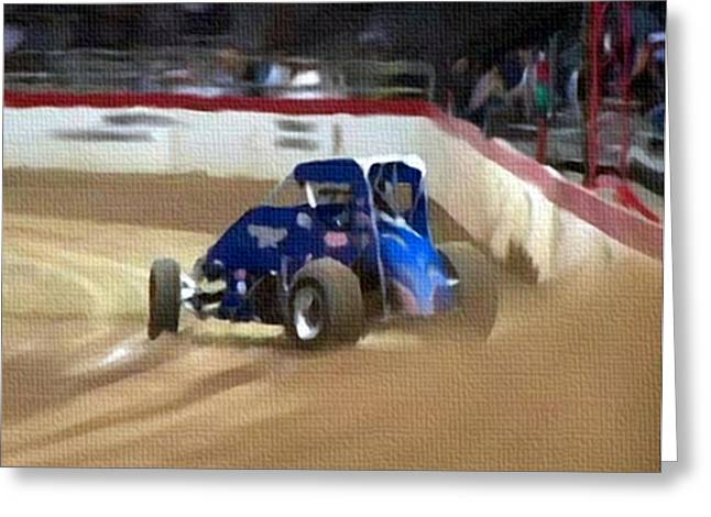 Dirt Trackin' Greeting Card by Dennis Buckman