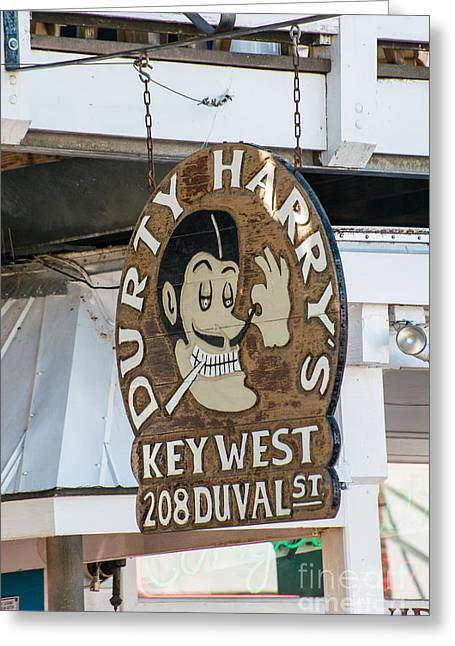 Dirty Harry's Key West  Greeting Card