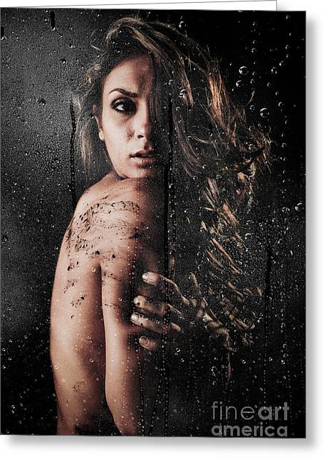 Dirty Shower Greeting Card by Jt PhotoDesign