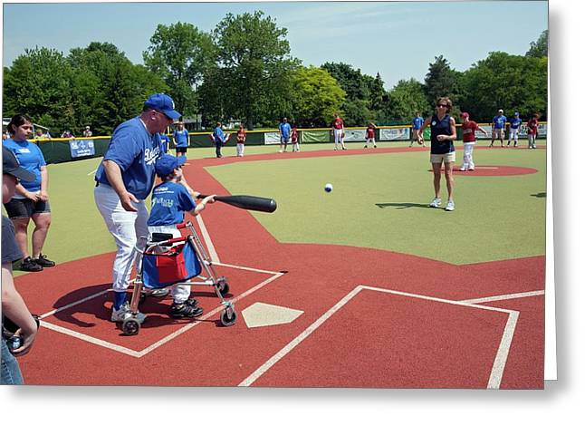Disabled Baseball Game Greeting Card