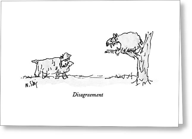 Disagreement Greeting Card