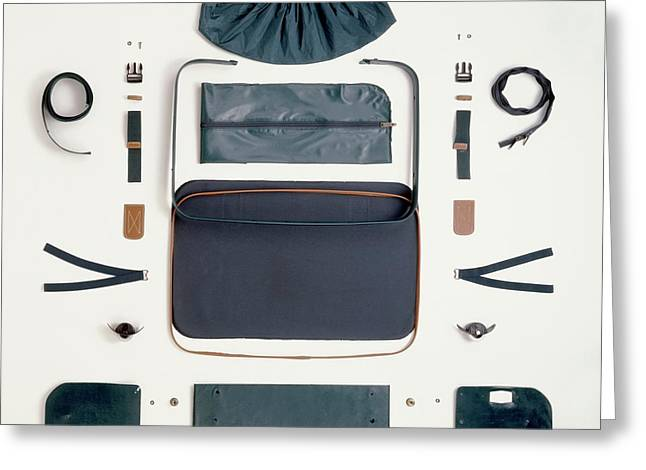 Disassembled Canvas Suitcase Greeting Card