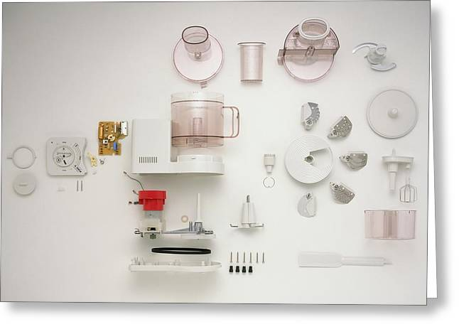 Disassembled Food Processor Greeting Card