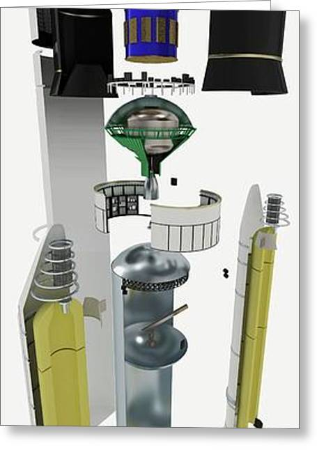 Disassembled Parts Of Ariane 5 Space Rock Greeting Card by Dorling Kindersley/uig