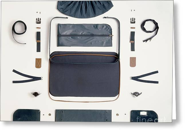 Disassembled Suitcase Greeting Card
