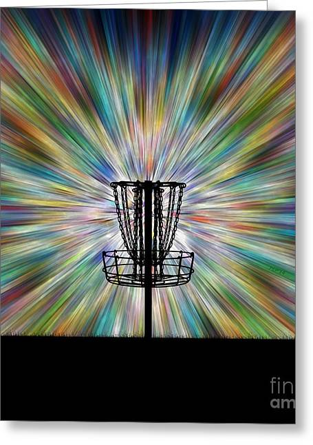 Disc Golf Basket Silhouette Greeting Card