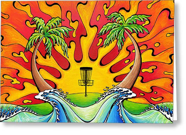 Disc Golfers Paradise Greeting Card