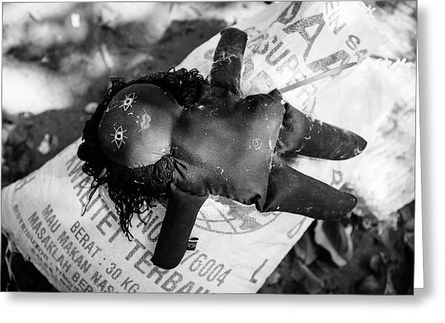 Discarded Rag Doll Greeting Card by Matthew Oldfield
