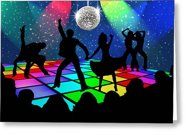 Disco Fever Greeting Card by Nina Bradica