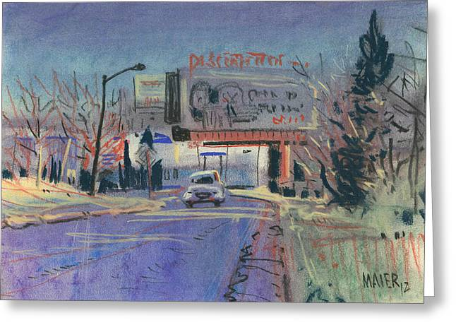 Discount Tire Greeting Card by Donald Maier