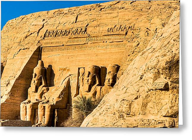 Discovering The Nubian Monuments Of Ramses II Greeting Card by Mark E Tisdale