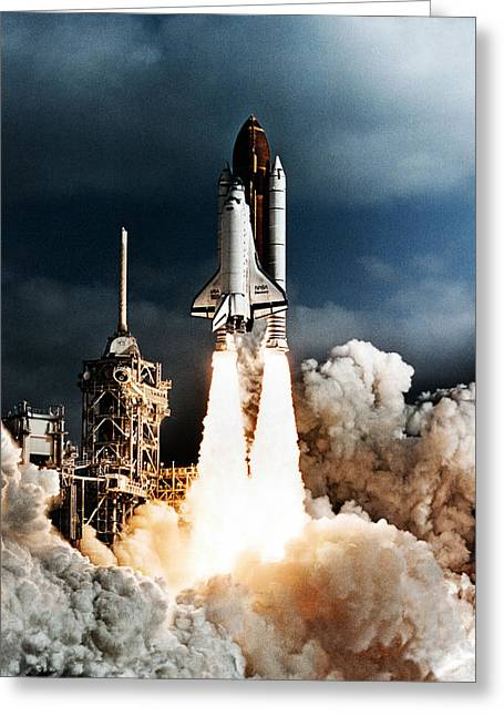 Discovery Hubble Launch Sts-31 Greeting Card