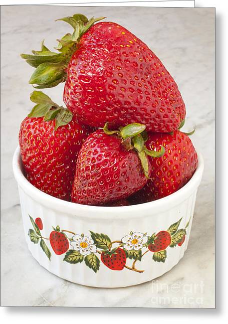 Dish Of Strawberries  Greeting Card by Jonathan Welch